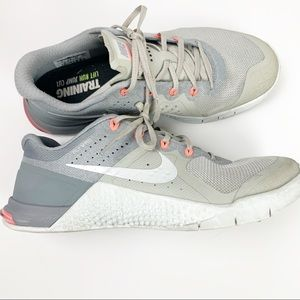 NIKE Metcon training Cross Fit Light Grey Shoes 8